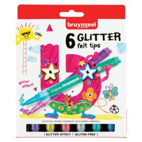 Bruynzeel KIDS – Glitter Felt tips-tusjer