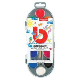 Bruynzeel KIDS – Watercolour Paint Set 12stk