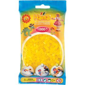 Hama midi 1000stk - 14 transparent gul
