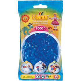 Hama midi 1000stk - 15 transparent blå