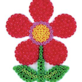 Hama midi piggplate - blomst