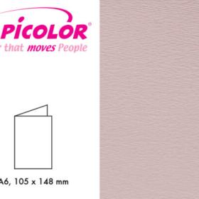 Papicolor dbl kort A6 - 922 støvrosa 6stk