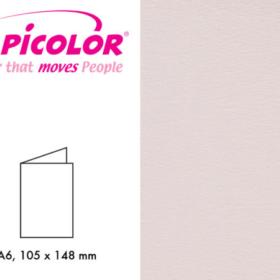 Papicolor dbl kort A6 - 923 lysrosa 6stk