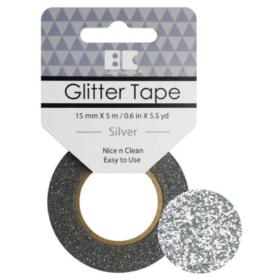 BC Glitter Tape  15mm x 5m - silver