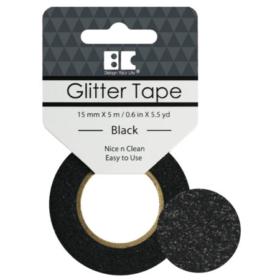 BC Glitter Tape  15mm x 5m - black