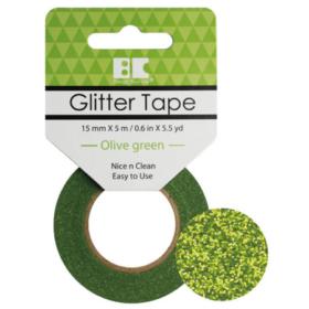BC Glitter Tape  15mm x 5m - olive green