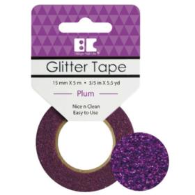 BC Glitter Tape  15mm x 5m - plum