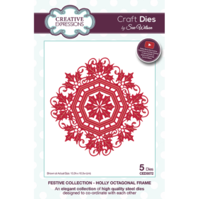 Creative Expressions Die - holly octagon frame