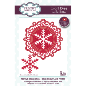 Creative Expressions Die - bold snowflake frame
