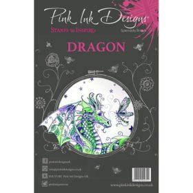 Pink Ink Designs A5 Clear Stamp Set – Dragon
