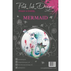 Pink Ink Designs A5 Clear Stamp Set – Mermaid