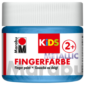 Marabu KIDS Finger Paint 100ml – Metallic Blue