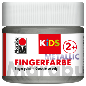 Marabu KIDS Finger Paint 100ml – Metallic Silver