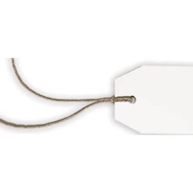 Tags med hyssing Hvit 10stk – 5x8cm