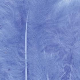 fjær 15stk lysblå