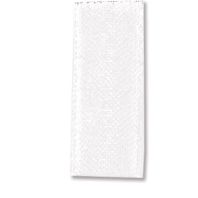 Bånd organza 6mm 10m - hvit
