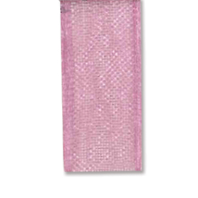 Bånd organza 10mm 10m – rosa