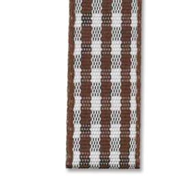 Bånd rutete 10mm 10m – Brun