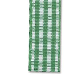 Bånd rutete 10mm 10m – grønn