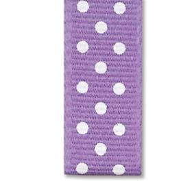 Bånd prikkete 10mm 10m – lilla