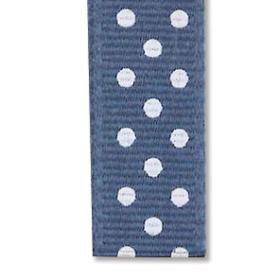 Bånd prikkete 10mm 10m –  gråblå