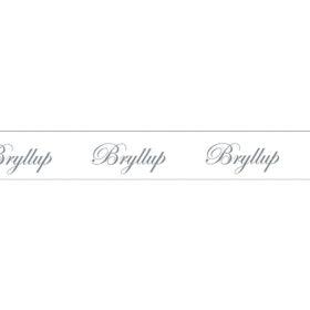 Bånd m/tekst 13mm 10m – Bryllup Script