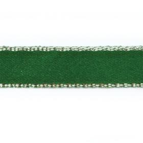 Bånd 9,5mm 10m – grønn med sølvkant