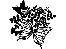Marabu Sjablong Silhouette – 30x30cm Butterfly&Rose