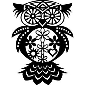 Marabu Sjablong Silhouette – 30x30cm Flowered Owl