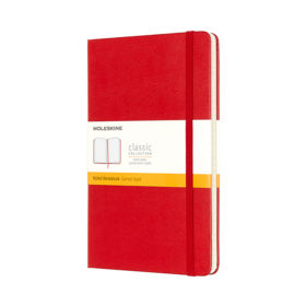 Moleskine Classic Notebook Hard L – Linjert Scarlet Red