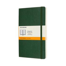 Moleskine Classic Notebook Soft L – Linjert Myrtle Green
