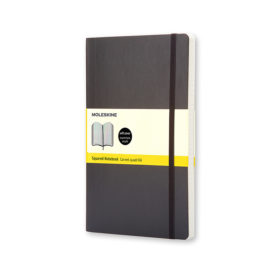 Moleskine Classic Notebook Soft L – Ruter Black