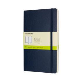 Moleskine Classic Notebook Soft L – Blank Sapphire Blue