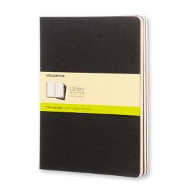 Moleskine Cahier Journal XL – Blank Black