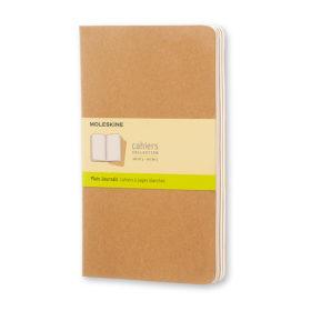 Moleskine Cahier Journal L – Blank Kraft Brown