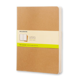 Moleskine Cahier Journal XL – Blank Kraft Brown