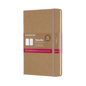 Moleskine Two-Go Notebook Hard M – Mixed Kraft Brown