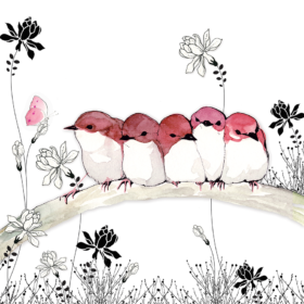 Dobbelt kort - Bird Family