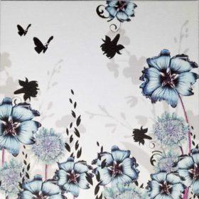 Dobbelt kort - blue flower