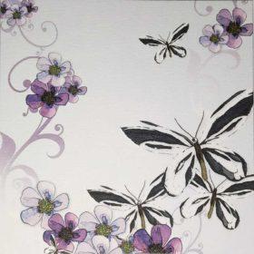 Dobbelt kort - butterflies