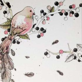 Dobbelt kort - Bird & Berries