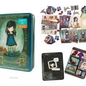 Gorjuss gift tag & mini folded card set