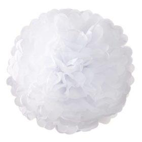 Decadent Decs - pom pom decorations 3stk white