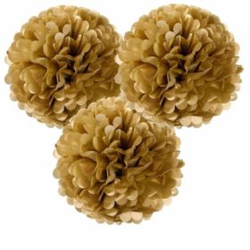 Decadent Decs - pom pom decorations 3stk gold
