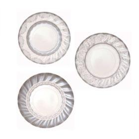 Party Porcelain - paper plates silver 12stk