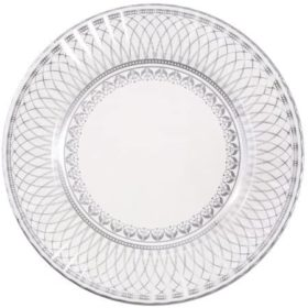 Party Porcelain -  large paper plate silver 8stk