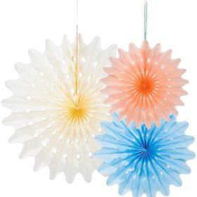Decadent Decs - fan decorations 3stk, oasis