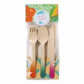 Tropical Fiesta -  wooden cutlery