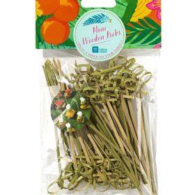 Tropical Fiesta -  wooden picks 50stk