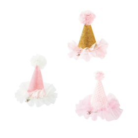 We Love Pink - mini partyhatt med klype 1stk